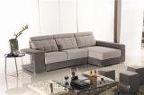 Софа ткани с l формой сползая мебель