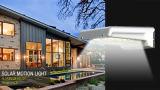 Lâmpada Solar Motion Rail Light com bateria AAA removível substituível