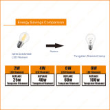 Cer RoHS A60 800lm Ra90 8W Filament Global Bulb LED Lamp
