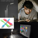 Diodo emissor de luz flexível Lamp do USB para o Caderno-Reading Colorful do PC