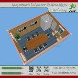 2층 가벼운 강철 구조물 Prefabricated 사무실 콘테이너