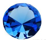 Tamaño pequeño cristal de vidrio barato diamante pisapapeles para naves