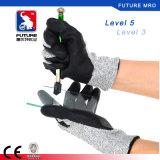 13gauge ладонь Гэри Hppe уровня 5 покрыла черным перчатки пены отрезанные нитрилом упорные