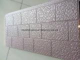 El panel de pared grabado de la PU de la hoja de metal