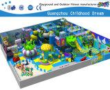 Cour de jeu molle de grand parc à thème drôle bleu de mer à vendre (H14-0910)