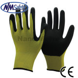 Nmsafety 13 Gauge нейлон, покрытая оболочкой, перчатки Sandy нитрил Работа