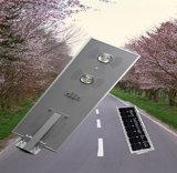 1つの解決統合された太陽70W LEDの街灯の太陽動力を与えられた屋外の軽いセンサーすべて