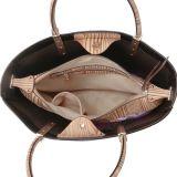 Bolso de madera grande de las mujeres del estilo ocasional de la impresión del grano (MBNO041019)