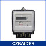 Medidor ativo eletrônico monofásico dos custos da energia do Watt-Hour de dois fios (DDS480)