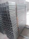 Im Freienstrecke galvanisiertes perforierter Metallverkehrs-teleskopisches quadratisches Gefäß