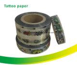 Papel de encargo colorido del tatuaje de la talla para el chicle de globo
