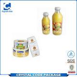Escrituras de la etiqueta populares reciclables de las etiquetas engomadas de la botella del jugo