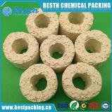 Materiale di ceramica biologico respirante dell'acquario degli anelli