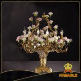 Schöne elegante klassische Blumen-Dekoration-Messingtisch-Lampe (MT0907-6)