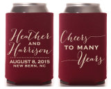 Het gepersonaliseerde Neopreen van de Douane kan Bier Koozies voor Huwelijk