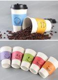熱い飲む使い捨て可能な紙コップのカスタムロゴによって印刷される使い捨て可能な紙コップのコーヒー紙コップ