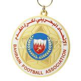 Medalha e troféus duros do logotipo do futebol do esmalte da escola americana de bronze feita sob encomenda barata da lembrança para a venda