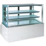 Vitrine de gâteau en acier inoxydable / vitrine de gâteau / vitrine commerciale