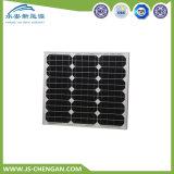 55W TUV/Ce/IEC/Mcs anerkannter schwarzer monokristalliner Sonnenkollektor