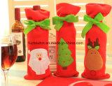 A tampa do frasco de vinho vermelho ensaca decorações do Natal para o presente Home do ano de Wew