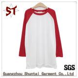 T-shirt unisexe bon marché en bonne santé de chemise de Raglan de mode chaude de vente
