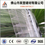 Bayer-Materialien blaues Dreifach-Wand Polycarbonat-Höhlung-Blatt 100% für Markise