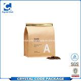 Découper le sac de papier de café rescellable imperméable à l'eau