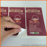 Etiqueta engomada impermeable de encargo del vinilo