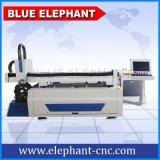 1500*3000mm CNCレーザーのカッター、ステンレス製のSteeのための1200Wファイバーレーザーの打抜き機
