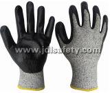 Hppe связало перчатку безопасности с окунать нитрила пены (ND8047)