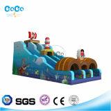 아이들 LG9022를 위한 Cocowater 디자인 해적 주제 팽창식 활주