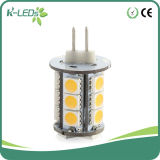 Bi Pin LED Bombillas 18SMD5050 AC / DC12-24V Blanco frío