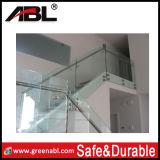 Projeto de vidro dos trilhos do balcão do aço inoxidável