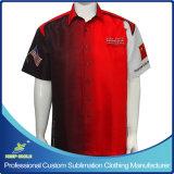 ワイシャツを競争させる顧客用昇華させたオートバイのスタッフのユニフォーム