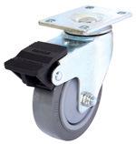Mittlere Aufgabe-Schwenker PU-Fußrolle (grau) (flache Oberfläche)