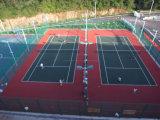 Plancher modulaire suspendu pour le jeu de tennis, plancher de verrouillage (bronze d'argent d'or de tennis)