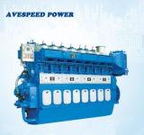 наивысшая мощность 2795kw и низкоскоростной морской двигатель дизеля