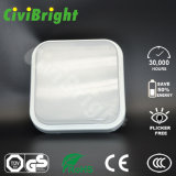 IP64 10W cuadrados alisan LED Damp-Proof curvado Ceilinglight con el GS