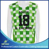 Le Lacrosse des hommes faits sur commande de sublimation chemise sans manche réversible de 2 plis