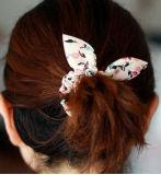 Ponytail Hairband веревочки волос ушей кролика смычка МНОГОТОЧИЯ польки эластичный