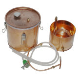 10L/3gallon水蒸留器の密造酒の銅の鍋のクラフトビール醸造装置