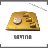 Garniture de polonais concrète d'étage de sol de mosaïque de diamant de Lavina pour la rectifieuse concrète