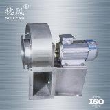 Ventilador centrífugo industrial do aço Dz75 inoxidável