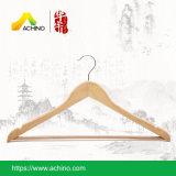 Perchas para los trajes de madera con antideslizante bar (WS200)