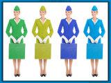 De in het groot Uniformen van de Stewardess van de Luchtvaartlijn van Vrouwen Professionele Slanke