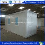 Envase modular prefabricado de la casa del edificio de bastidor de estructura de acero y de los paneles de Sanwich