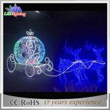 luz acrílica do acrílico da rena do diodo emissor de luz do Natal 3D