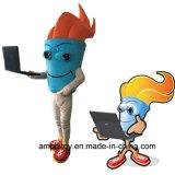 Costume personalizzato della mascotte del carattere della torcia