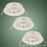 Dispositif réglable de l'aluminium DEL Downlight pour des ampoules de GU10 MR16 5W DEL