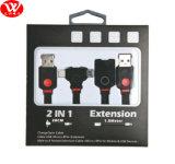 1.5meters cable de la extensión +20cm 2in1 con el LED